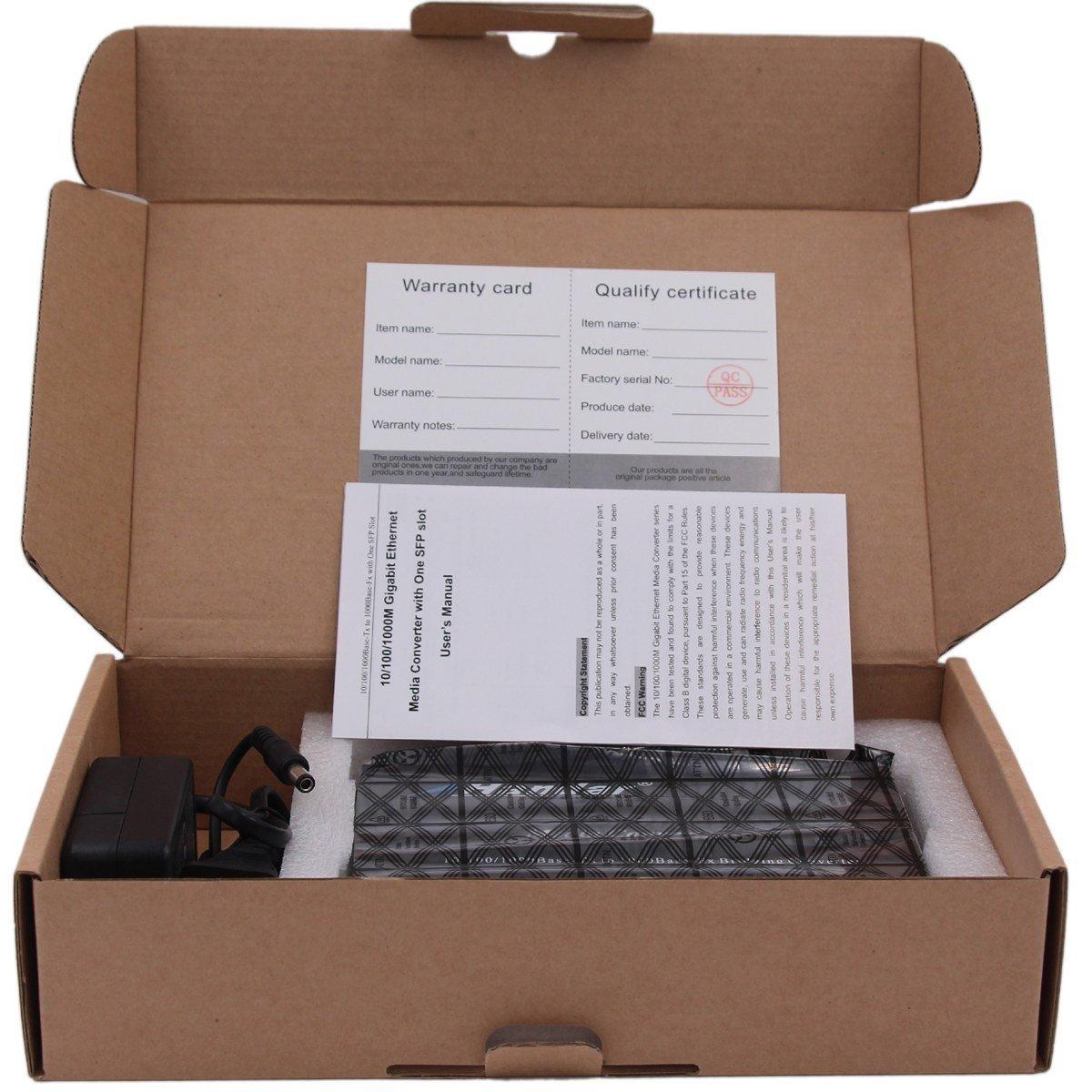 Handar Gigabit Ethernet Media Converter Open SFP Slot, Unmanaged Gigabit Ethernet Switch 4 Ports 10/100/1000 UTP 2 SFP Open Slot, Without Transceiver by Handar (Image #5)