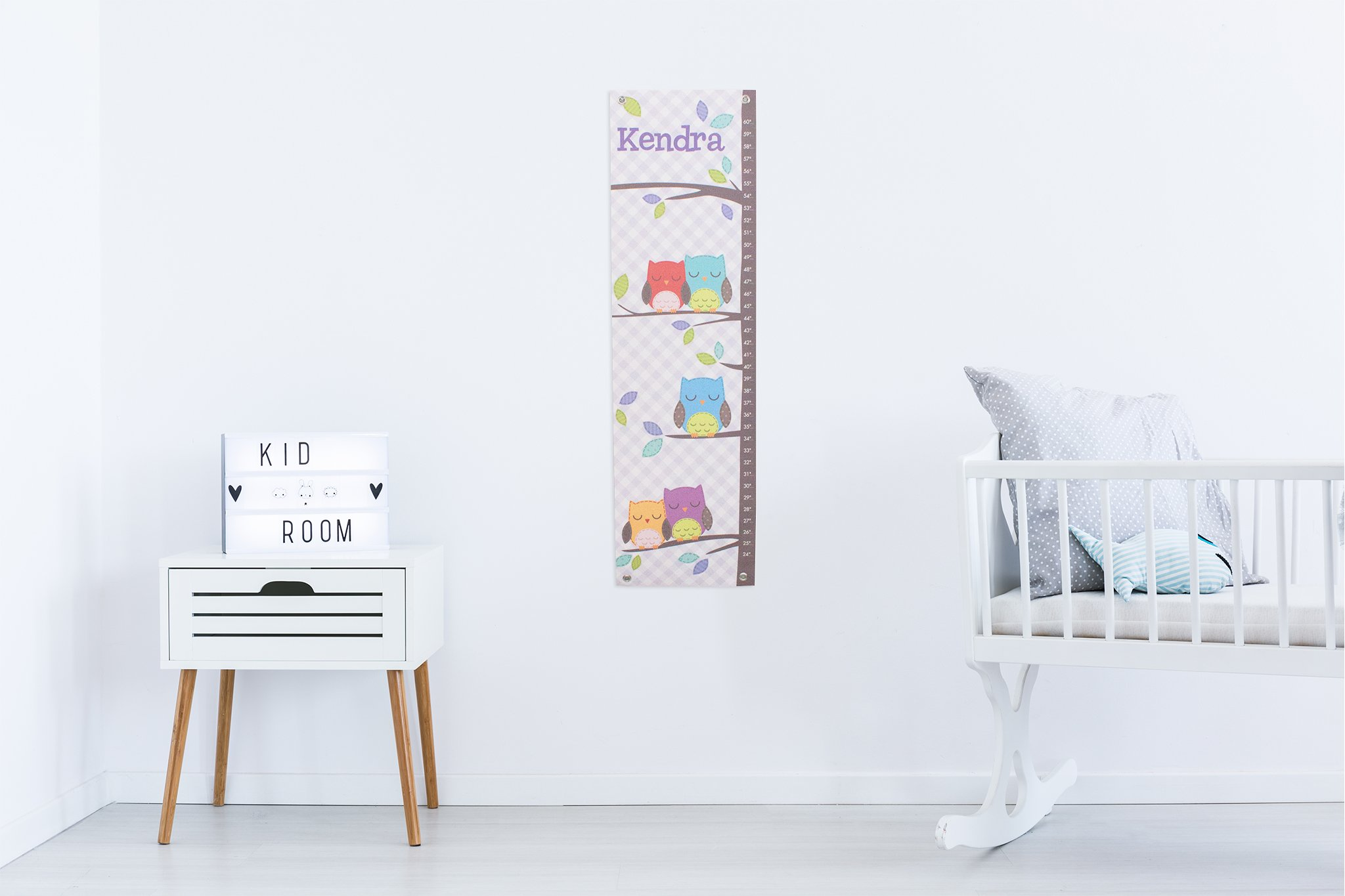 Personalized Growth Chart Ruler Owl Nursery Décor by I See Me!