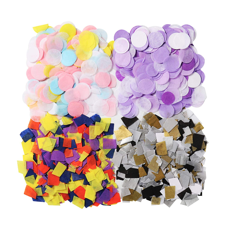HotSaleStore Sticker Seals 48 Happy Birthday Confetti Colorful Sticker Label Envelope Seals 1.2 Round