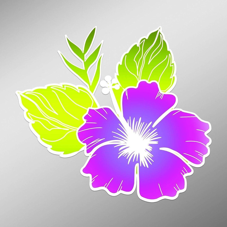 Hawaiian Hibiscus Flower Car Decal Hot Pink Sticker