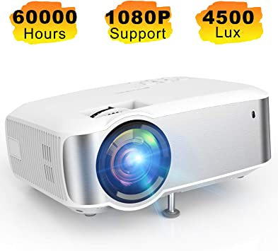 Proyector de vídeo, TOPVISION Full HD 1080P Proyector LED ...