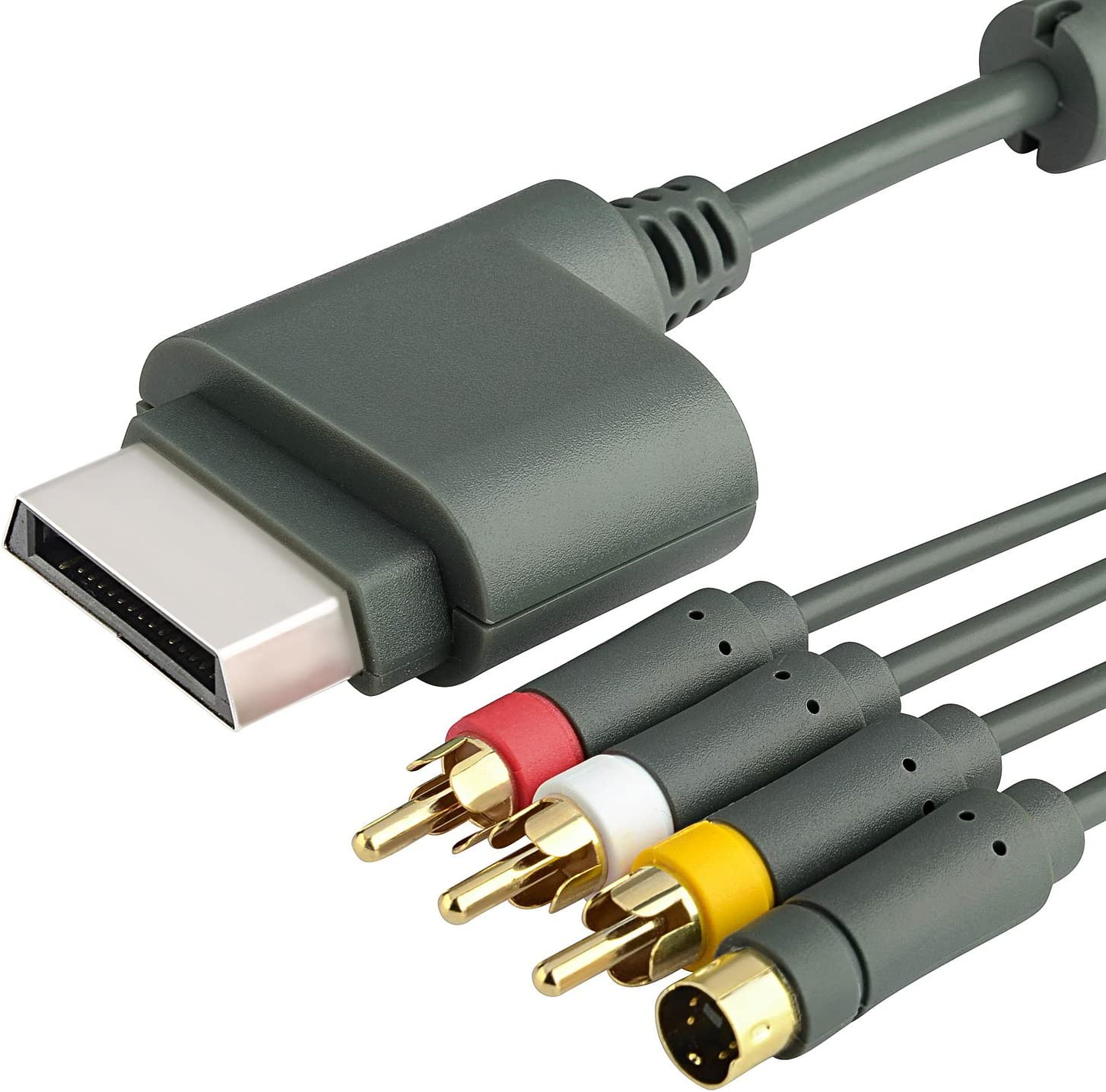 Amazon.com: Insten 6ft Gray AV Composite and S-Video Cable ...