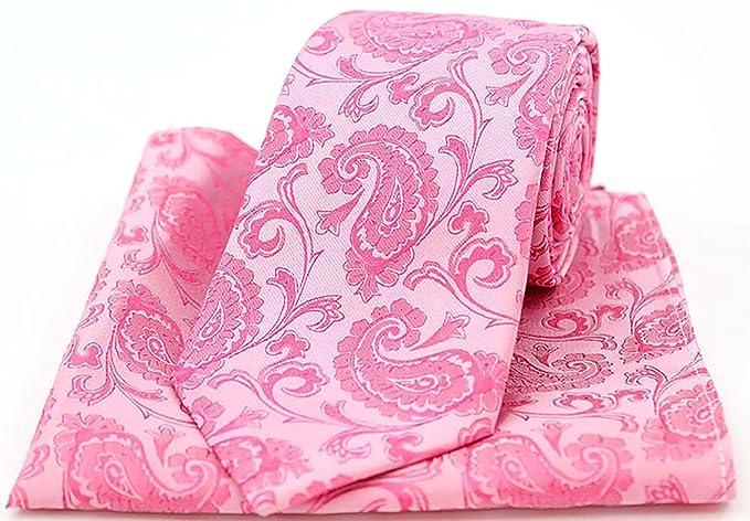 1a7c4acca46a Soprano Fuchsia Paisley Silk Tie and Pocket Square: Amazon.co.uk: Clothing