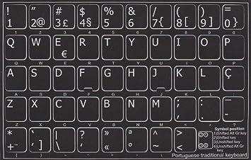 Pegatinas para teclado portugués.