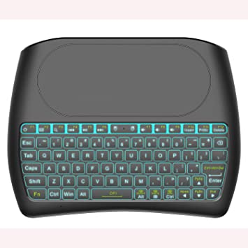 LIHETUN Ratón Remoto de Aire, Mini Teclado inalámbrico IR Aprendizaje 2.4 G Gyro USB Mando a Distancia Mini Teclado inalámbrico, para Chromebox Android Smart TV Box HTPC proyector PC (057): Amazon.es: Electrónica