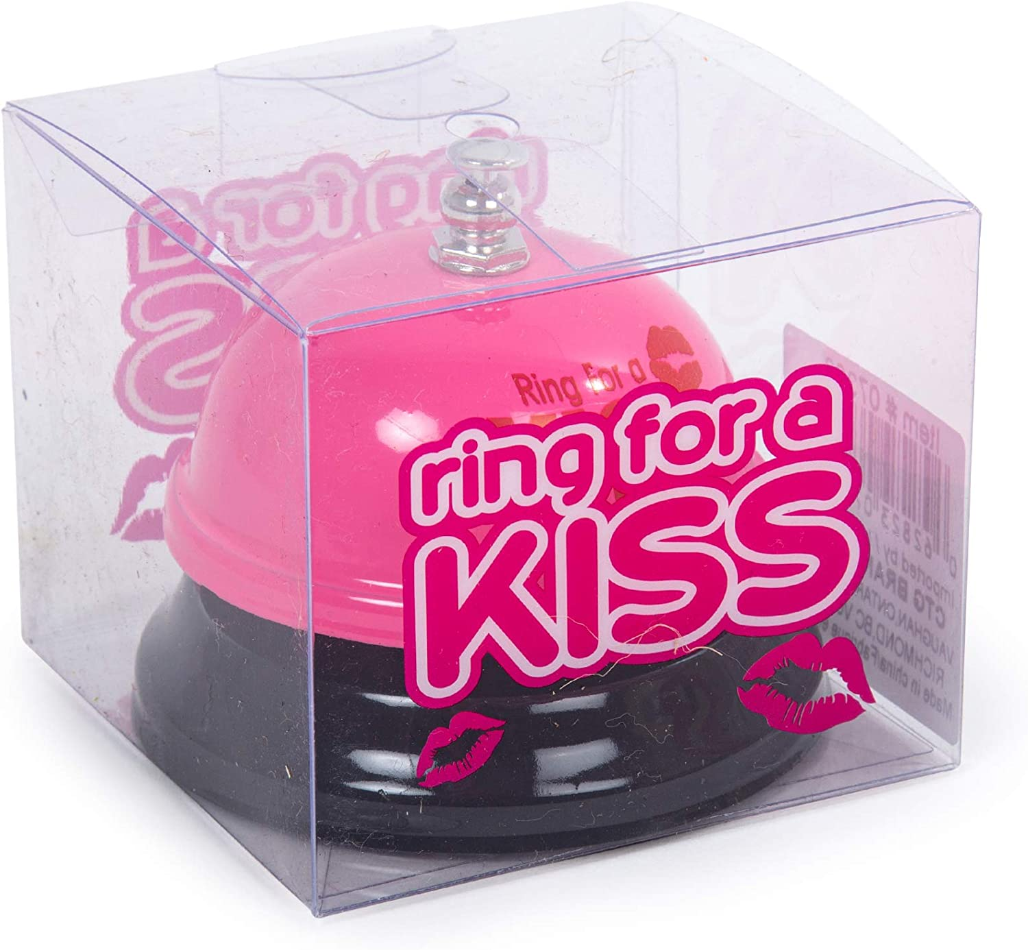 Pink CTG Novelty Fun Gag Gift Ring for a Kiss Bell 3 x 2.5 inches