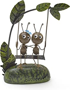 The Lakeside Collection Metal Ants Tree Branch Swinging Garden Statue - Outdoor Home Accent