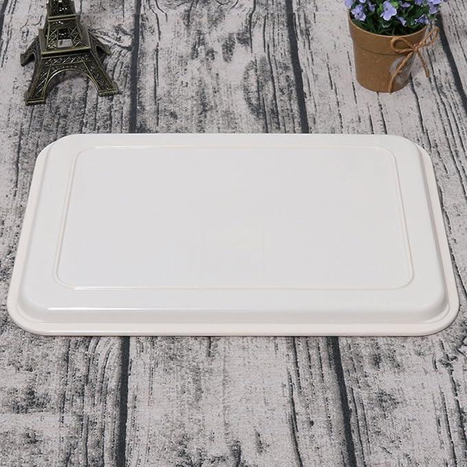 Kaxima Imitación de porcelana, melamina, plástico, rectangular, hotel, vaso de vidrio, bandeja, plato de pan, vajilla 29.4*21.1cm: Amazon.es: Hogar