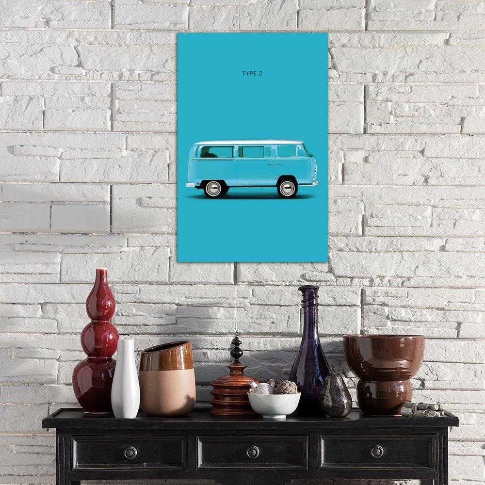 iCanvasART Volkswagen Type 2 Canvas Print by Mark Rogan 26 x 18