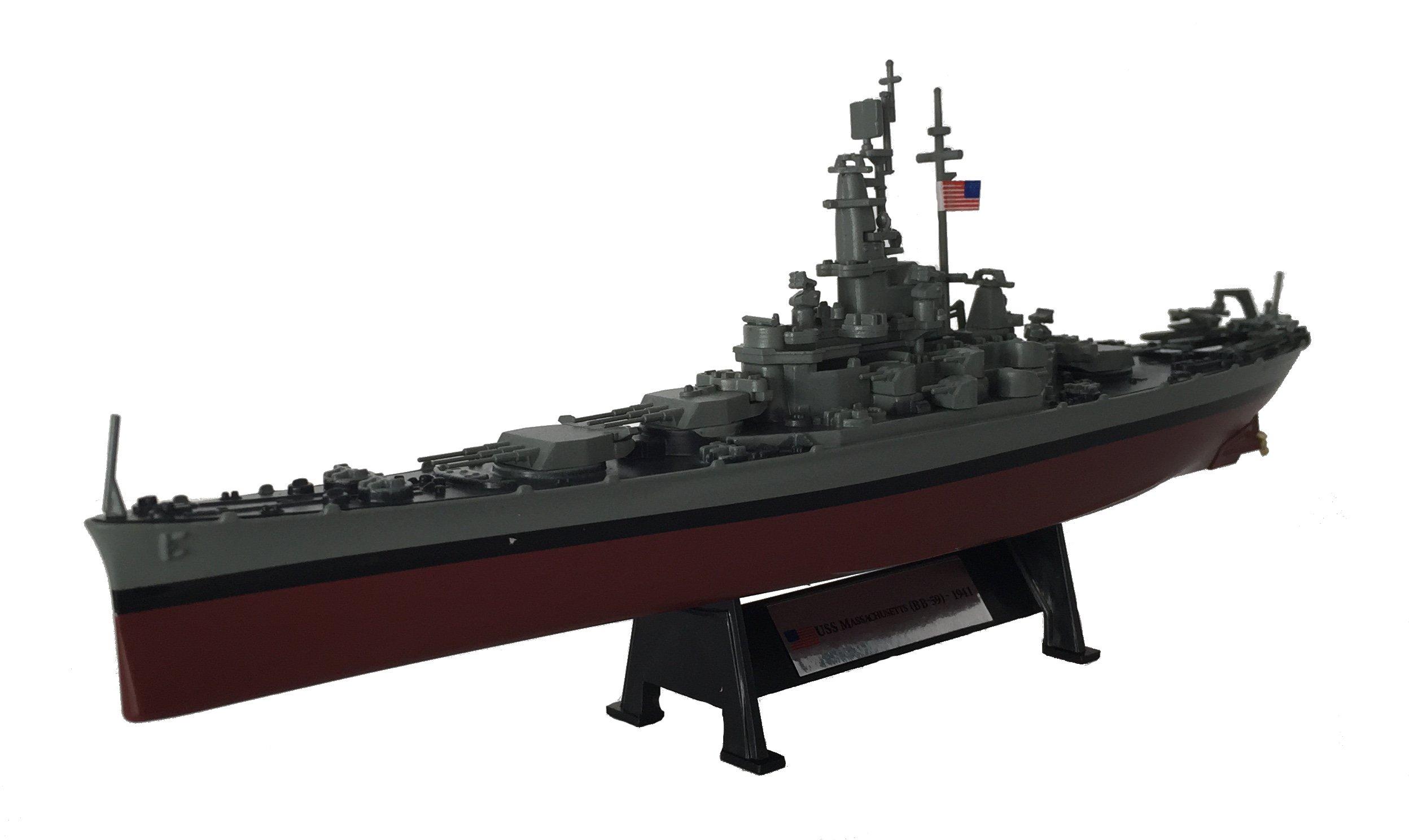 USS Massachusetts (BB-59) 1941 - 1:1000 Ship Model (Amercom ST-3)