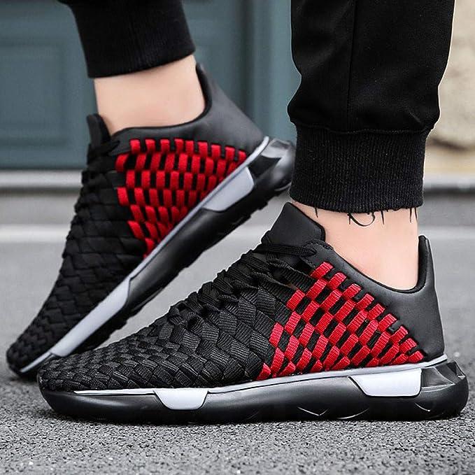 963143862a0db Amazon.com: Summer Men Sneakers, lkoezi Woven Mesh Thick-Soled ...