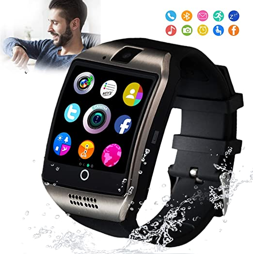 Smart Watch Smartwatch For Android Phones Smart Watches Touchscreen With Camera Bluetooth Watch Phone With Sim Card Slot Watch Cell Phone Compatible Android Samsung Ios Phone Xs X8 10 11 Men Women