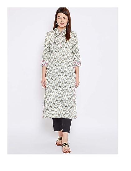 13e8f2faaead7 Amazon.com: Hiral Designer mall Women Design Off-White Printed ...