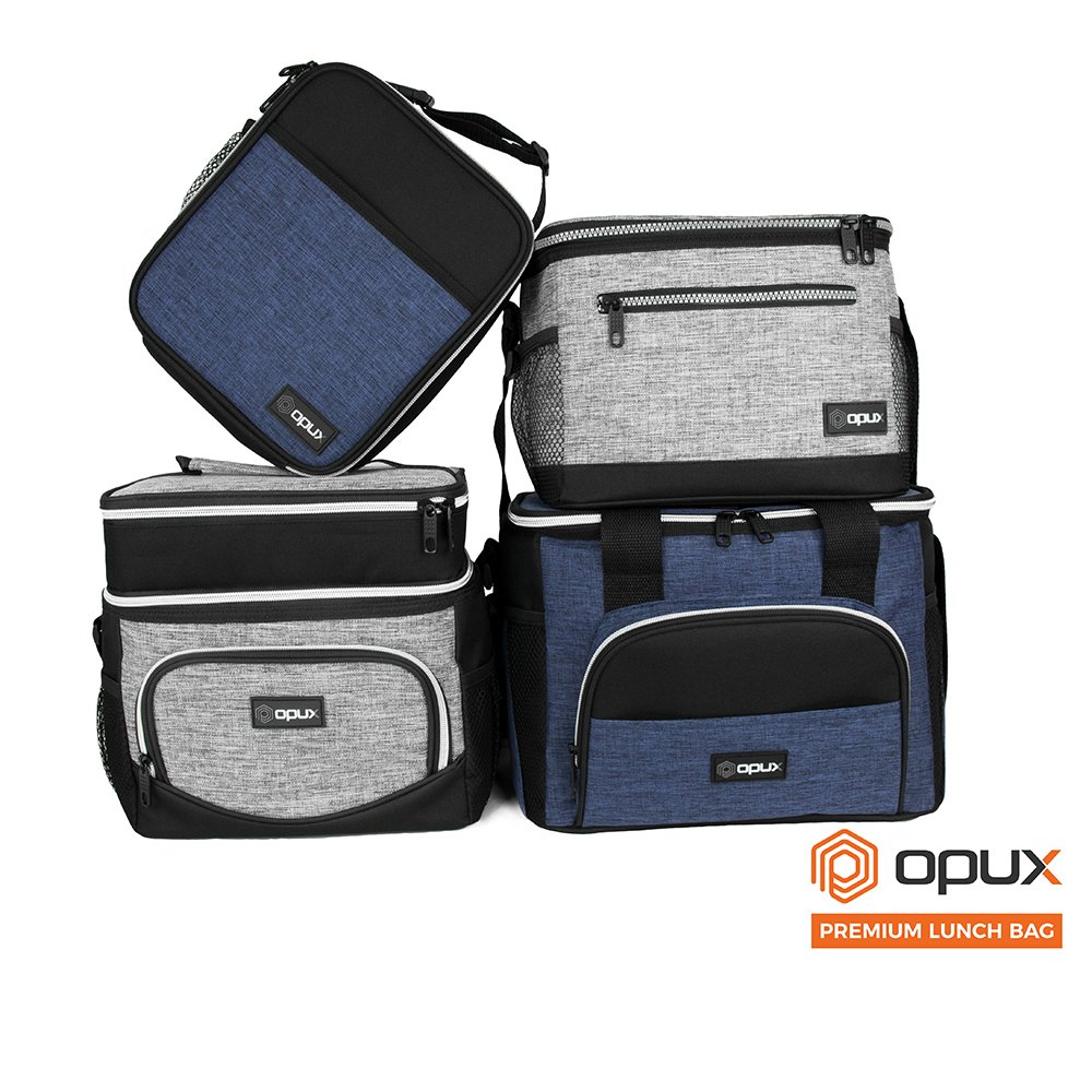 OPUX Premium Thermal Insulated Mini Lunch Bag | School Lunch Box For Boys, Girls, Kids, Adults | Soft Leakproof Liner | Compact Lunch Pail for Office (Heather Gray) by OPUX (Image #9)