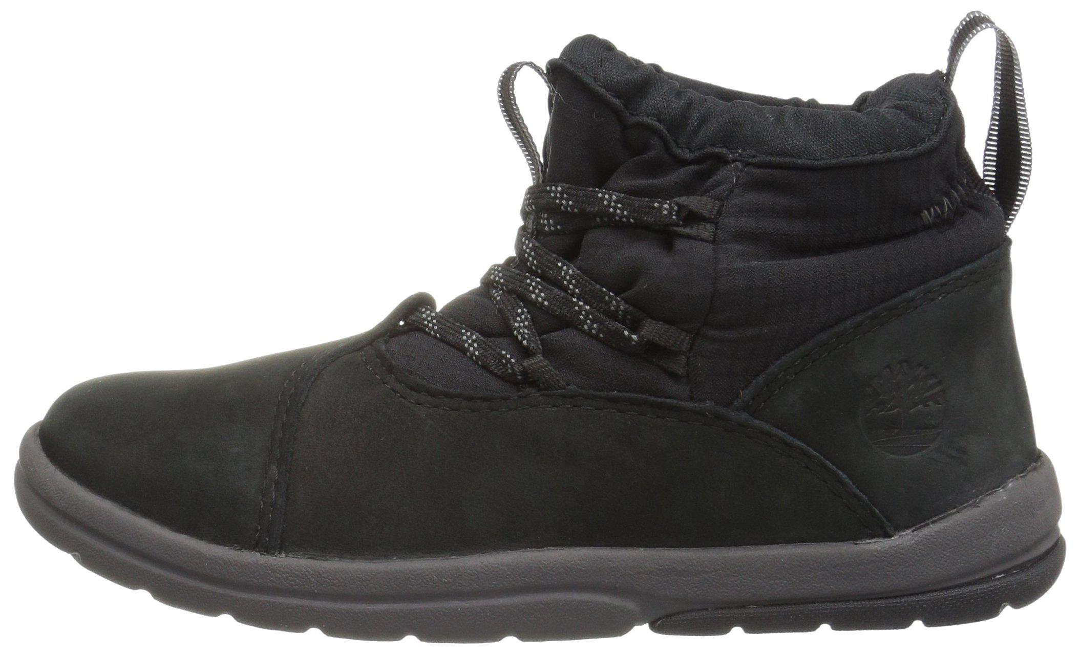 Timberland Unisex Toddle Tracks Warm Fabric Leather Bootie Snow Boot Black Nubuck 12 M US Little Kid by Timberland (Image #5)