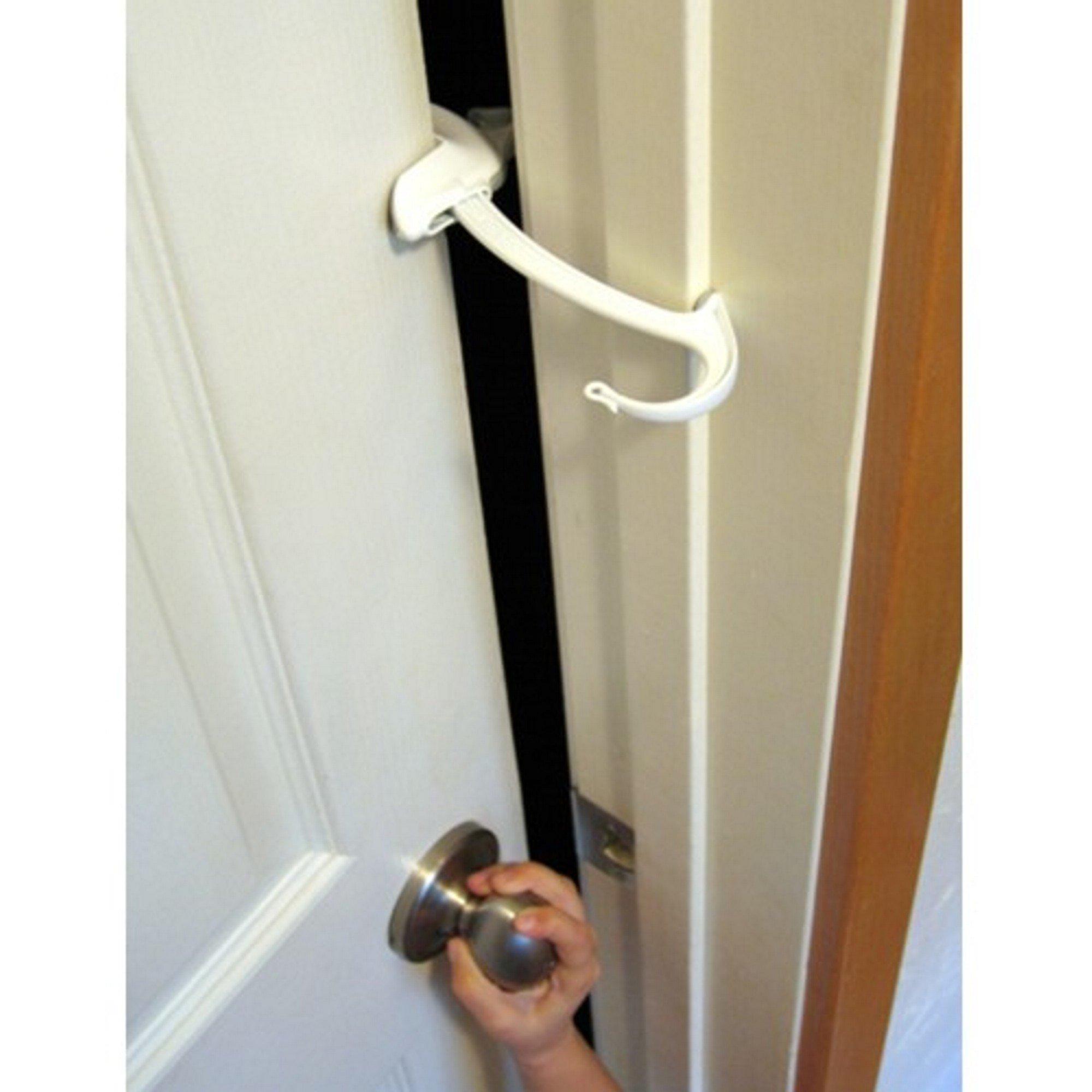 DOOR MONKEY Door Lock & Pinch Guard - Safety Door Lock For Kids - Baby Proof Door Lock For Bedrooms, Bathrooms & Kitchens - Easy, Convenient & Simple To Install - Very Portable - Great For Dogs & Cats by Door Monkey