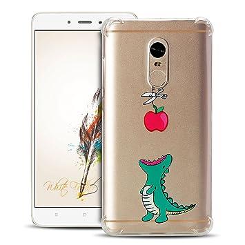 Anfire Funda Xiaomi Redmi Note 4 Case Suave y Transparente Cover Flexible de Silicona Carcasa [Esquinas Reforzadas] Protección Gota y Ultra Ligera Gel ...