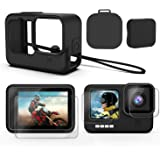 Deyard Accessories Kit for GoPro Hero 9, Upgraded Silicone Sleeve Protective Case + 6PCS Tempered Glass Screen Protector + Ru