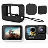 Deyard Accessories Kit for GoPro Hero 9, Upgraded Silicone Sleeve Protective Case + 6PCS Tempered Glass Screen Protector…