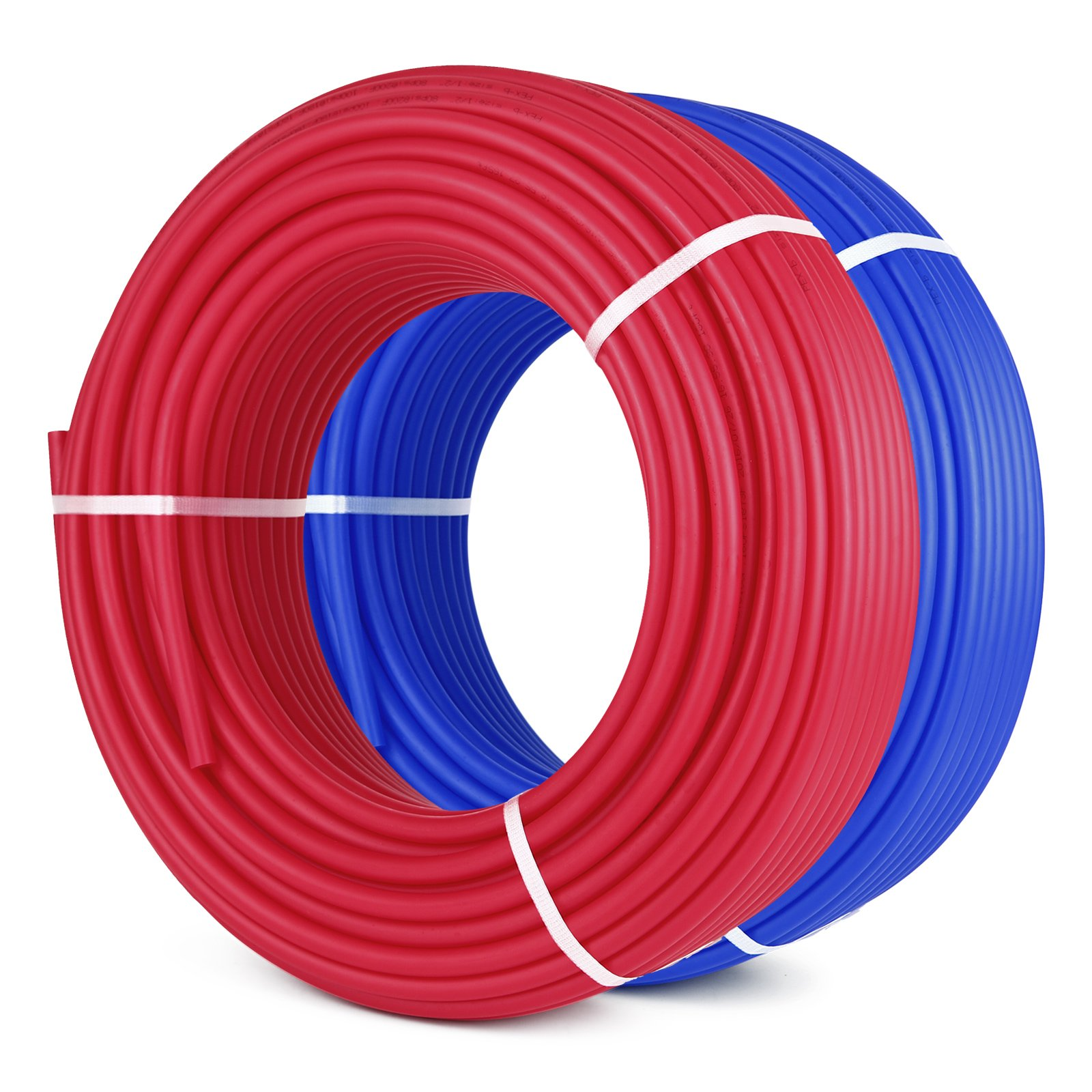 VEVOR PEX Tubing 1/2 Inch 300ft 2 Rolls Non Oxygen Barrier PEX Tubing Red and Blue Radiant Heat Pex Piping Kit for Residential and Commercial Potable Water Applications by VEVOR