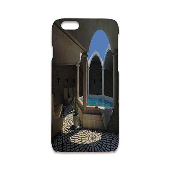 IPhone 5/5s Shock Absorber Bumper Cover,Landscape,Inside View Of A Spa
