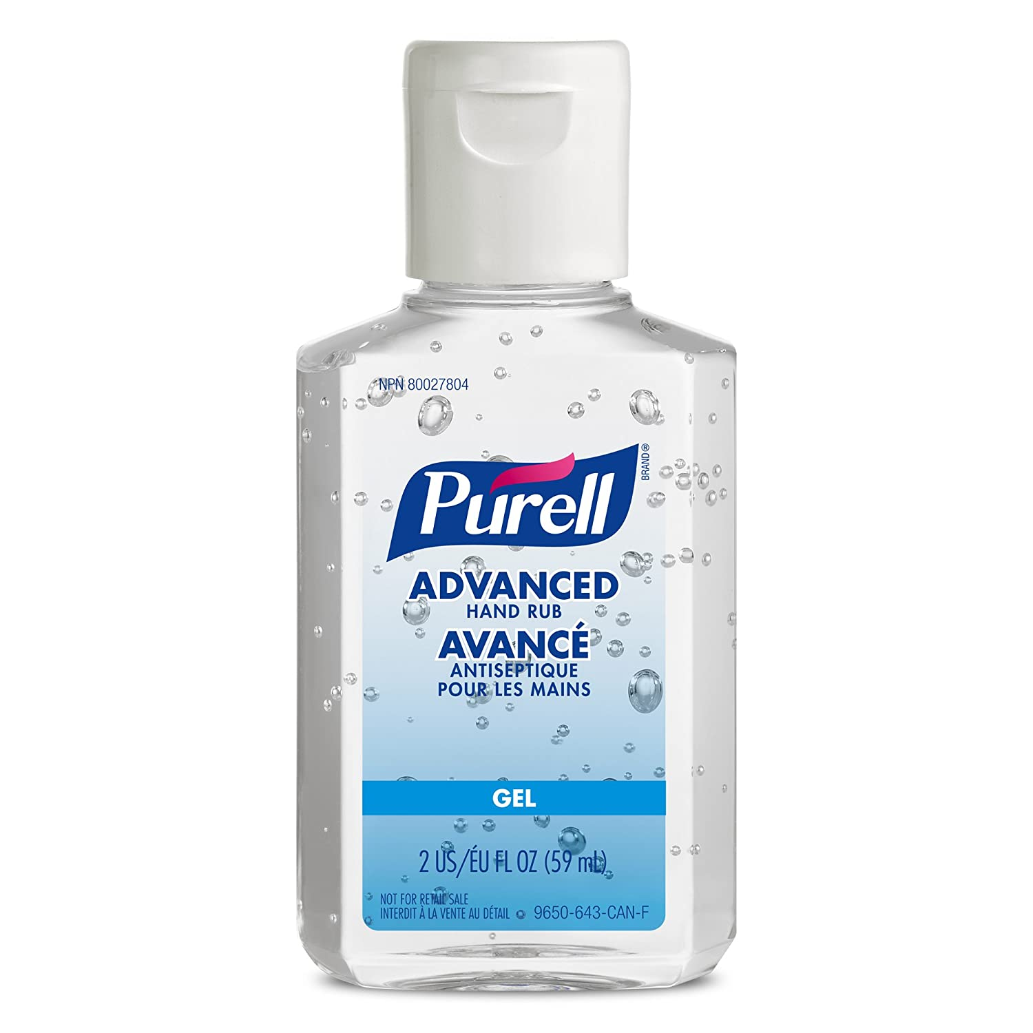 Purell 9650-24-can Advanced Hand Rub, 2 Fl Oz Bottle with Flip-cap, 24-Pack