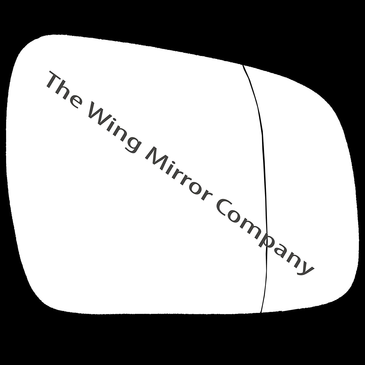 Silver Aspheric Door / Wing Mirror Glass RH(Driver Side) The Wing Mirror Company
