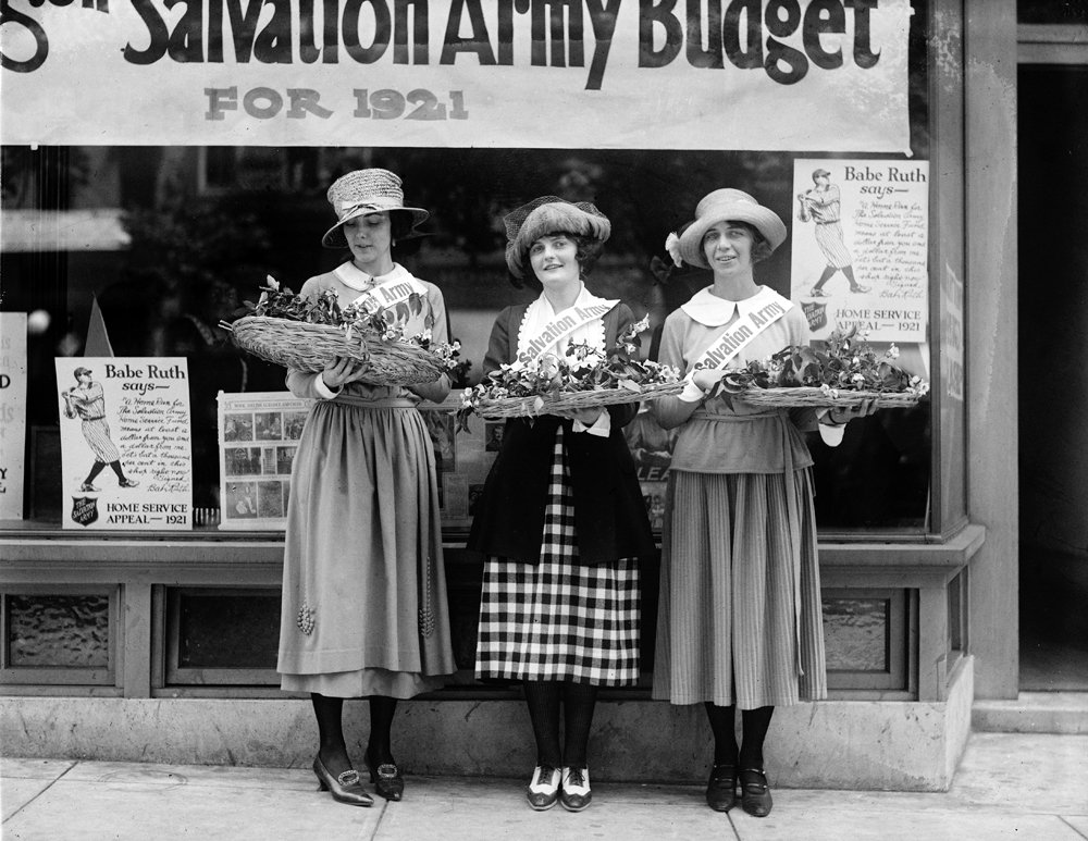 "1922 Salvation Army House Girls Vintage Photograph 8.5"" x 11"""