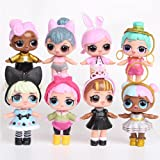 8PCS Mini LOL Dress Toys Dolls Girls Action Figure Home Collectible Surprise Ornament