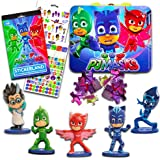 PJ Masks Figures Toys Super Set -- 5 Collectible Figures, Lunch Box Tin and