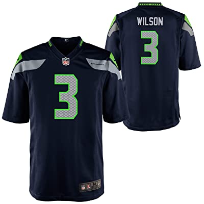 Russell Wilson Seattle Seahawks #3 Youth Game Day Navy Jersey