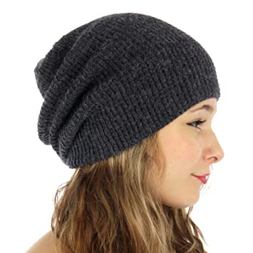 d9ff5cd91ef Amazon.com   Waffle Knit Slouchy Beanie Hat for Men and Women (Blue)    Beauty