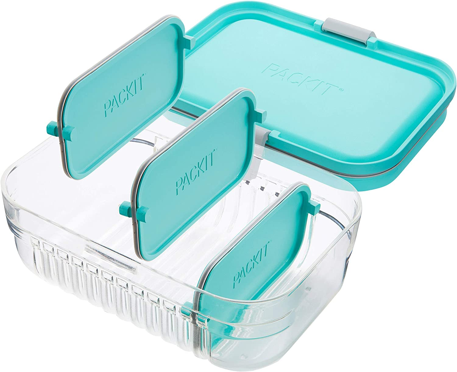 Amazon Com Packit Mod Lunch Bento Food Storage Container Mint Green Kitchen Dining