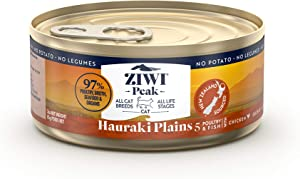 ZIWI Peak Provenance Canned Wet Cat Food – All Natural, High Protein, Grain Free with Superfoods (Hauraki Plains, Case of 24, 3oz Cans)