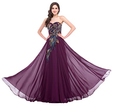 GRACE KARIN Vestido Largo sin Tirantes Elegante para Mujer de ...