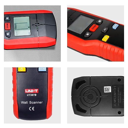 UNI-T UT387B Herramienta de diagnóstico Multifuncional Pared de Mano Detector de metales de Metal Madera AC Cable Buscador Escáner Precisa (UT387B): ...