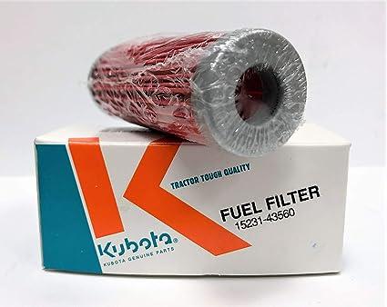 New OEM Kubota Fuel Filter 15231-43560 for G4200 G5200 G6200 B1550 B1550HST  B20