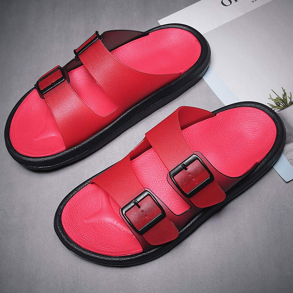 ❤️ Sunbona On Sale Mens Beach Slippers Summer Breathable Casual Outdoor Non-Slip Open Toe Sandals Extra Wide Width Shower Home Shoes
