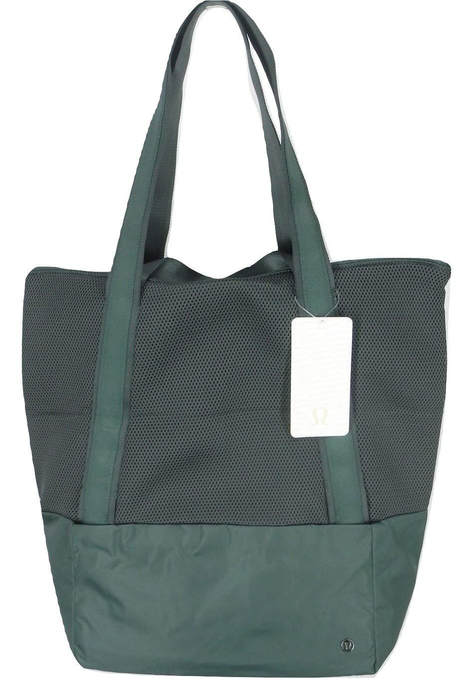 Lululemon Cobalt Green HOT MESH BAG Yoga Gym   Traveling Shopping Versatile  Tote 5f13e0bba382f
