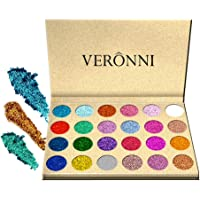 POPVCLY 24 Color Glitter Injections Pressed Eyeshadow Magnet Palette Diamond Rainbow Eye Shimmer Makeup Cosmetic