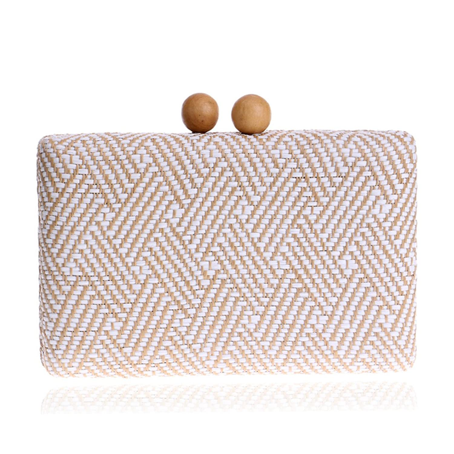 GTIME Women Retro Package Plaid Stripes Clutch Bags Luxury Evening Bags