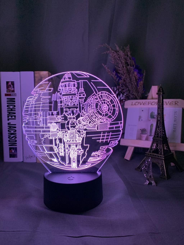 Lámpara 3d HologramaLuz nocturna para decoración de oficina Regalo de cumpleaños fresco para novio Niños Niño Niño Luz de noche led