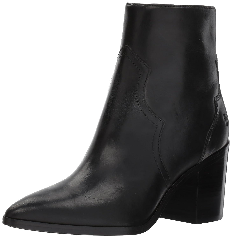 FRYE Women's Flynn Short Inside Zip Ankle Bootie B01N816FSQ 10 B(M) US|Black