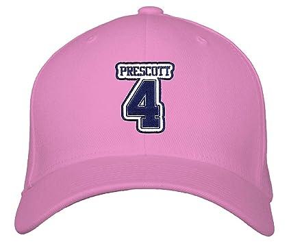 Dak Prescott  4 Hat - Dallas - Adjustable Unisex Pink Football Cap at  Amazon s Sports Collectibles Store cd68ccea0bca