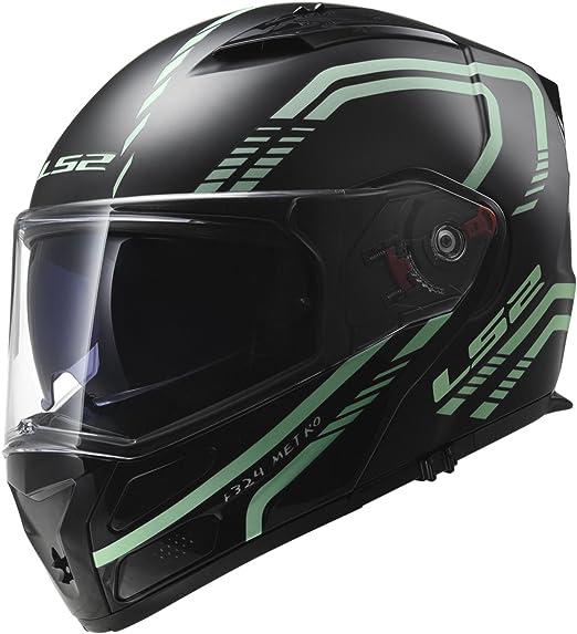 Gr/ö/ße XS Schwarz LS2 Motorradhelm RAPID Mat