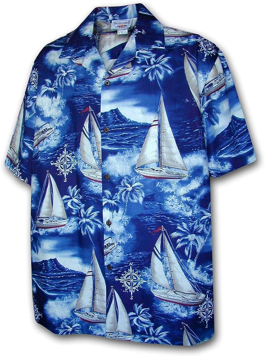 Pacific Legend Hawaiian Shirts Sailboats