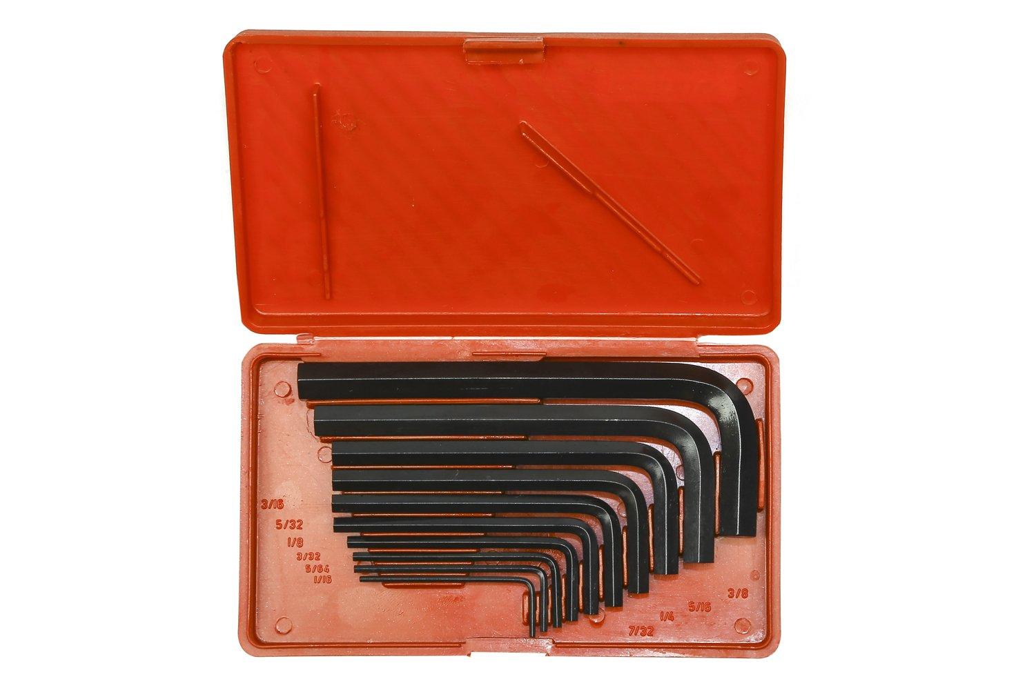 Taparia KI 10V Steel Allen Key Set (Black Finish, Box Packing, Pack of 10) product image