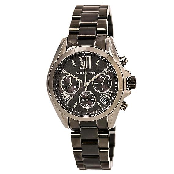 6806a8d0fdb0 Michael Kors Bradshaw Grey Dial Chronograph Gunmetal Tone Ladies Watch  MK6249  Amazon.ca  Watches