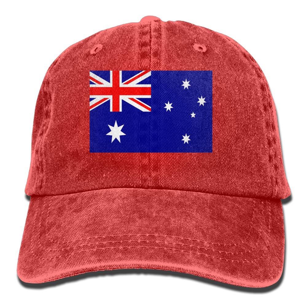 MASDUIH Flag Of Australia Denim Hat Baseball Caps Adjustable Plain Cap