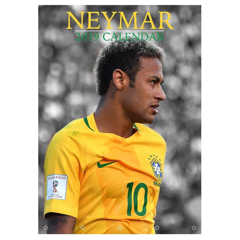 NEYMAR Jnr (Paris St Germain) 2019 Fuß ball Kalender (A3 420mm x 297mm) Neymar de Santos CAL NEYMAR 2019